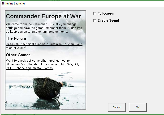 Can't get 4 0 to start on Windows 10 - Slitherine